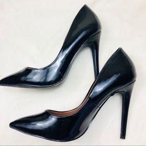 Mossimo 7.5 Heels Black D' Orsay Pumps Stilettos